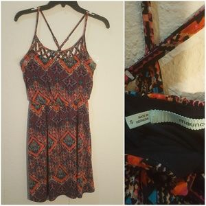 Maurices Printed purple and orange dress